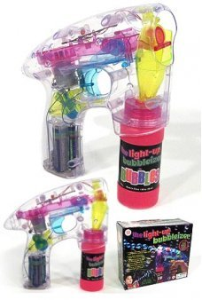 Light Up Transparent Bubbleizer Gun
