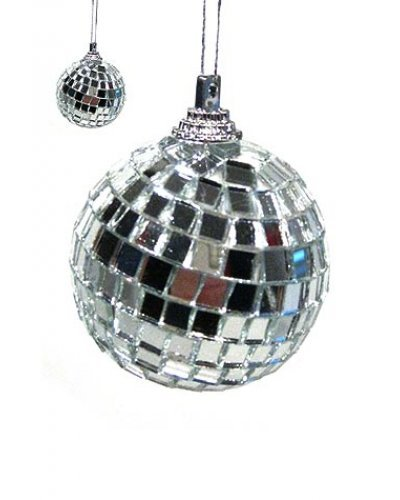 Mini Mirror Disco Ball Ornament 1976