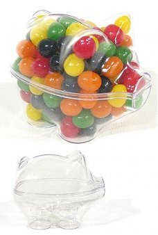 Piggy Bank Clear Candy Box