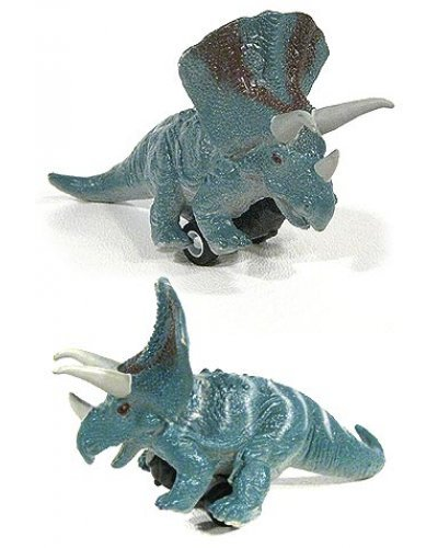 Triceratops on Wheels Dino Pull Back
