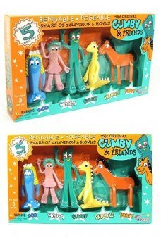 Gumby and Friends Complete Set Bendable