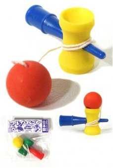 Cup and Ball Game Eraser Japanese Mini 1 Piece, Assorted Colors