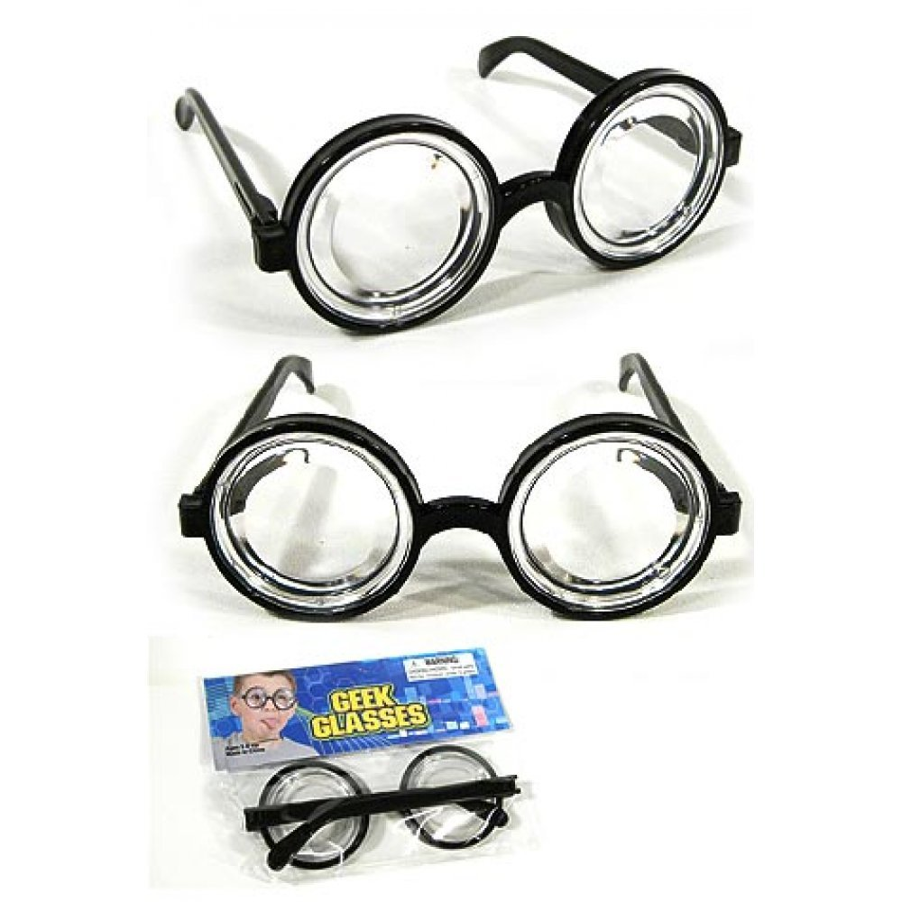 great prices new arrival size 7 Nerd Glasses Toy Geek Specs : Black Frames Optical Distortion