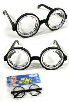 Nerd Glasses Toy Geeky Specs Black Frames
