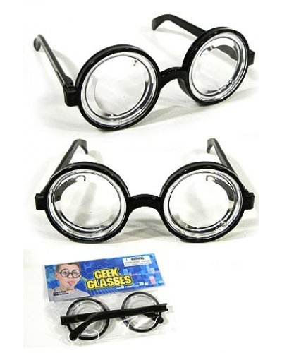 Nerd Glasses Toy Geeky Specs Black Frames