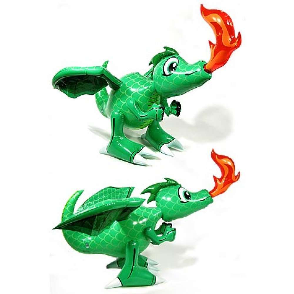 Dragon Inflatable : Draco the Fire Breathing Dragon : 28 inch ...