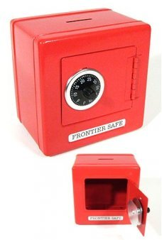 Red Metal Safe Frontier Combination Bank