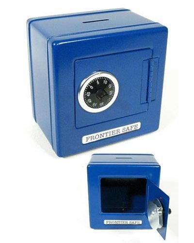 Frontier Blue Metal Safe Classic Bank