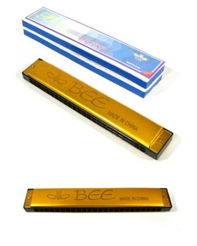 Golden Bee Harmonica 24 Holes