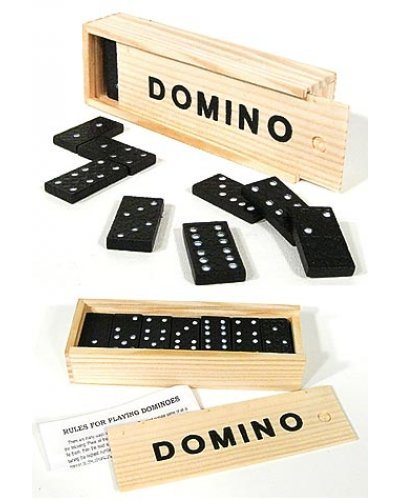 Wooden Dominoes Classic Game Set