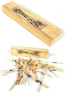 Wooden Pick Up Sticks Mikado Game Set