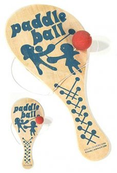 Paddle Ball BoLo Blue Wooden Game