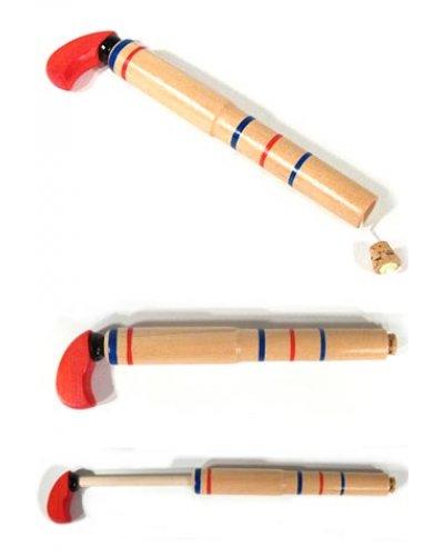 Wooden Pop Gun Toy Classic Cork on String