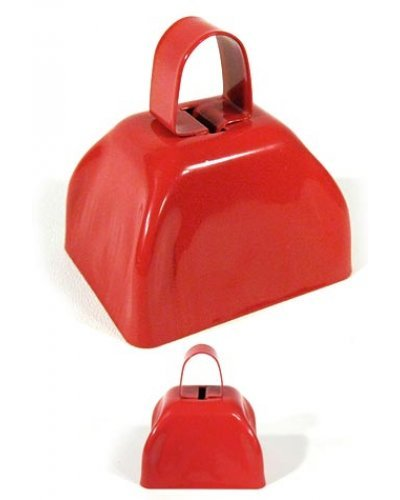 Cow Bell Red Classic Metal Noise Maker