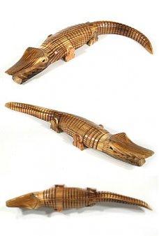 Alligator Wooden Wiggling Crocodile