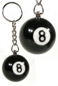 8 Ball Keychain Black Heavyweight