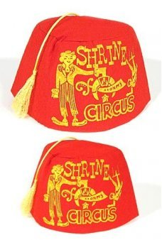Shrine Circus Red Fez Hat Child Size
