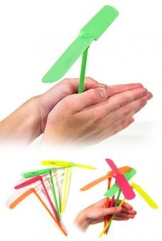 Flying Propeller Hand Powered Toy
