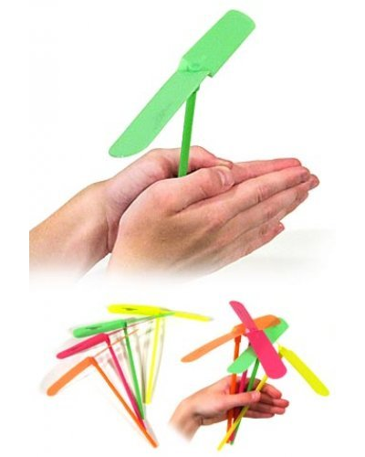 One Plastic Flying Propeller Hand Powered Toy