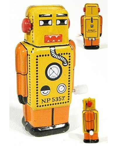 Mini Lilliput Robot Tiny Tin Toy