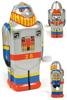 Mini Super Robot X 28 Tiny Tin Toy