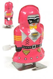 Mini Magic Girl Pink Robot Tiny Tin Toy
