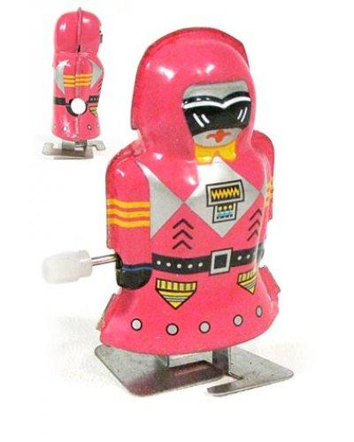 Mini Magic Girl Pink Robot Tiny Tin Toy