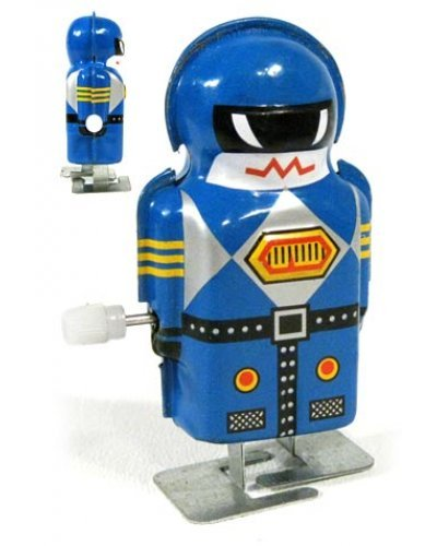 Mini Magic Boy Blue Robot Tiny Tin Toy