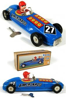 Lotus Racing Car Number 27 Tin Toy