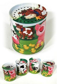 Animal Noise Maker Tin Classic Can