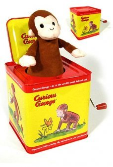 Curious George Jack in a Box Tin Toy