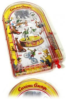 Curious George Pin Ball Tin Toy