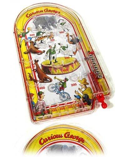 Curious George Pin Ball Tin Toy