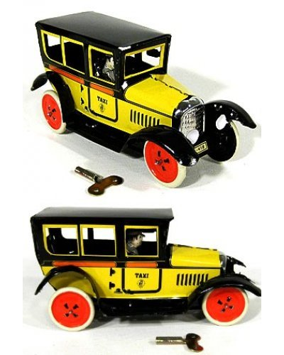 Paya Taxi Tin Toy Yellow Classic 1929