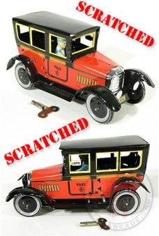 Paya Taxi Tin Toy Red ***Scratched