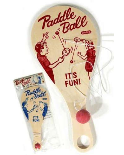 Paddle Ball Game Deluxe Classic Wood