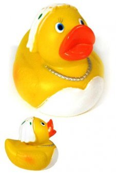 Rubber Duckie Yellow Bride Wedding
