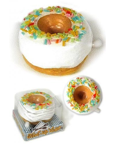 White Frosted Diner Donut Wind Up