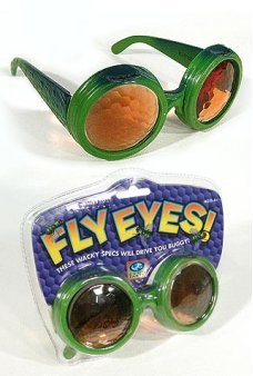 Fly Eyes Glasses Bug Specs Green