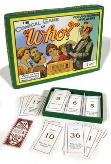 Comical Game of Who Classic UK 1900