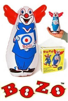 Bozo Finger Bop Bag Clown 7 inch 1960