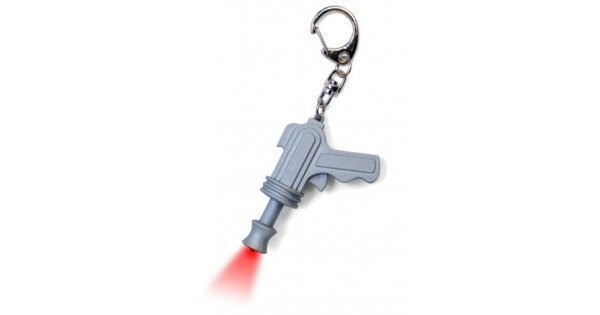 Space Gun Keyring Spaceman Raygun Red Led Ray Gun