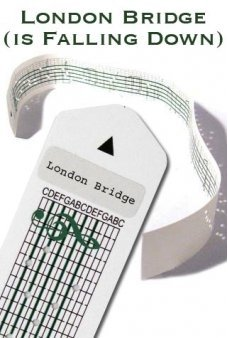 London Bridge Paper Strip for Music Box Kit