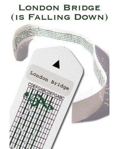 London Bridge Paper Strip for Music Box Kit