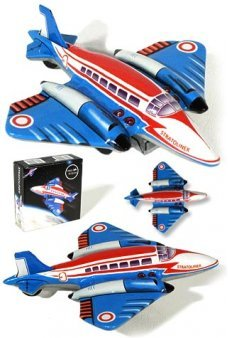 Stratoliner Space Jet Tin Toy Rare