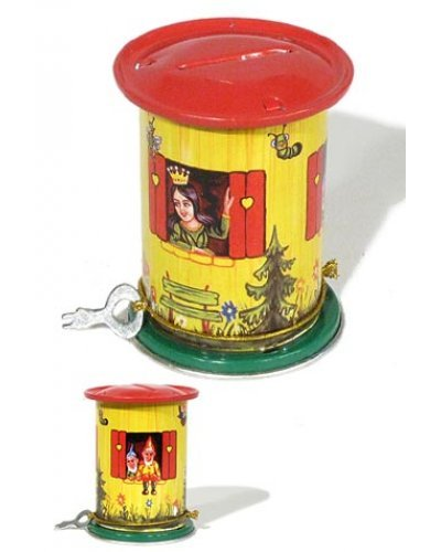 Snow White Mini Bank Classic Tin Toy