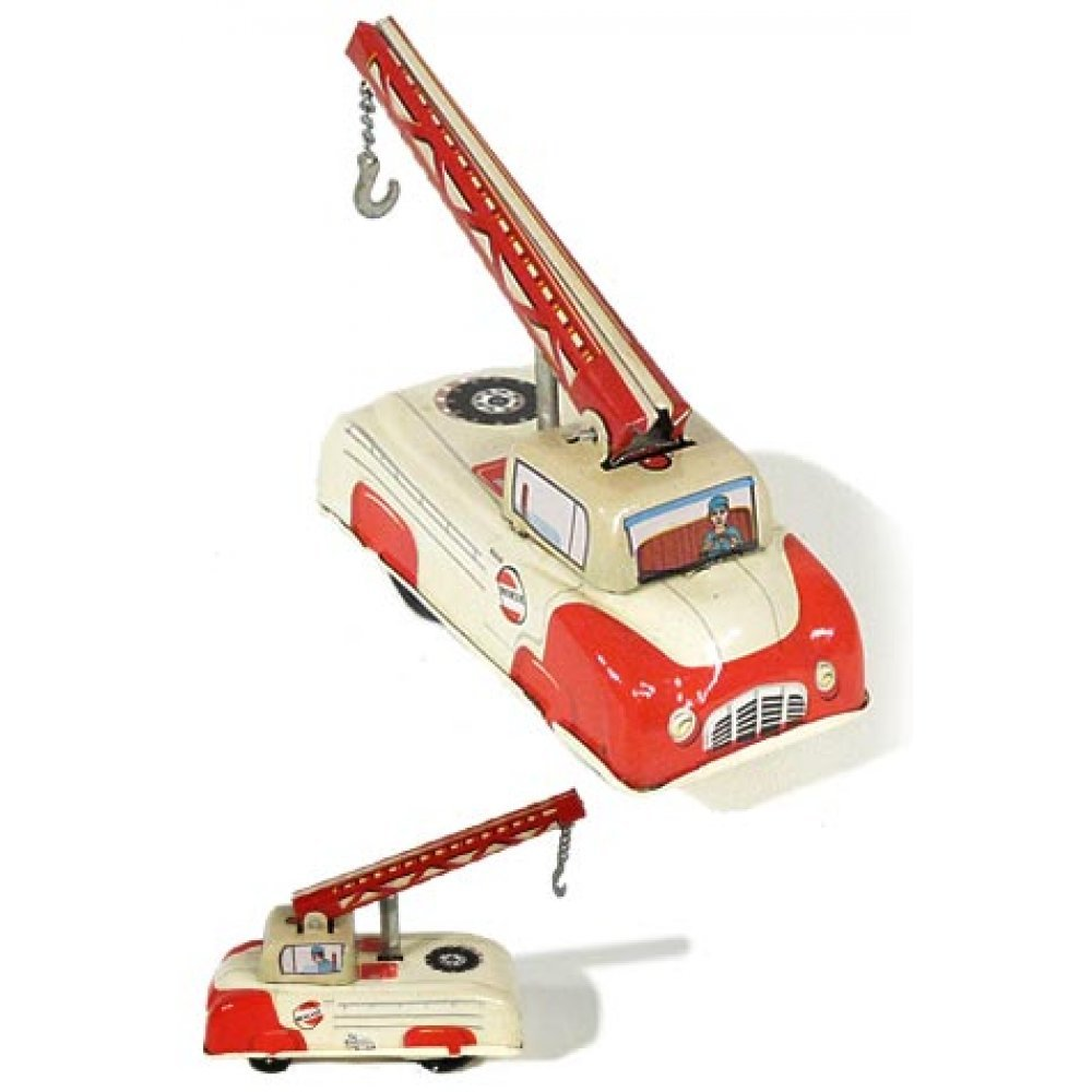 Tow N Go >> Tow Truck Tin Toy Press N Go Collectors Series 1 Of 3