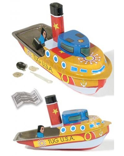 Tug Boat USA Pop Pop Tin Steamer