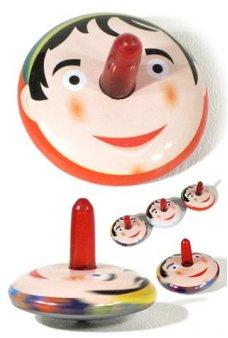 Pinocchio Red Nose Tin Top Mini