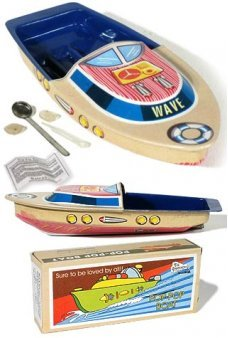 Wave Pop Pop Boat Colorful Tin